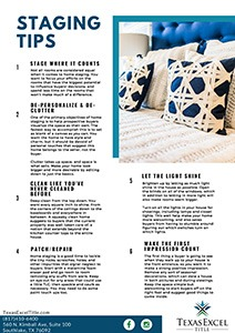 Staging Tips for Home Sale